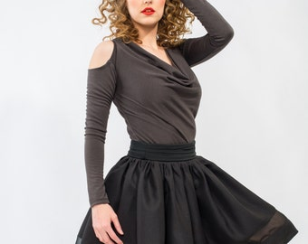 SALE !!! Romantic and Girly Ball Skirt in Black Made to order