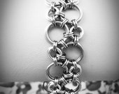 Silver Bubbles Hodo Chainmaille Bracelet - Ready To Ship - Fast Shipping