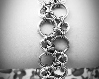 Silver Bubbles Hodo Chainmaille Bracelet - Ready To Ship