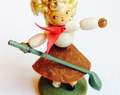 Charming Vintage Beaded Golfing Lady