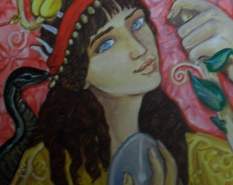 Persephone and the Orphic Egg print (8x10)