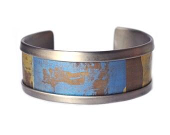 Spacescape Moon Titanium Anodized Bracelet For Him