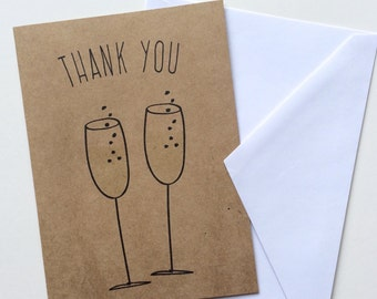 Thank you Cards / Wedding Party Cards, Bridesmaids, Groomsmen, Engagement Party