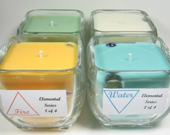 Elemental Series Soy Candles:  Gift Set of Four
