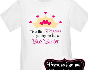 Big Sister Princess Shirt Personalized T Shirt