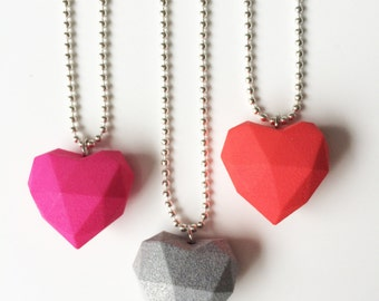 3D printed heart necklace