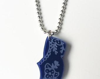 Delft Blue Clog (or Wooden Shoe) - Necklace