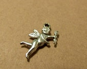 SALE 10% OFF - Silver metal CUPID charm, Love Angel charm, charm bracelet, angels, cupid, charms......