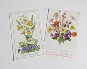 Two Vintage Mothers Day, Mothering Sunday Post Cards - Mothers Day
