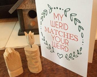 Greeting Card Weird Couples   wreath