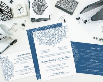 Wedding Invitations Bilingual Invitations By Invitationsbytiffany
