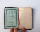 Antique Address BOOK From 1917 - Free Shipping, Christmas Gift For Wife HUSBAND MOM Dad