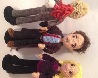 Rose Tyler Doctor Who Amigurumi doll Crochet Pattern