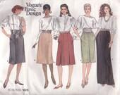 Versatile Skirt Pattern Vogue 1023 Sizes 12 14 16