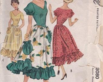 Cute 1950s Dress Pattern McCalls 8080 Size 13