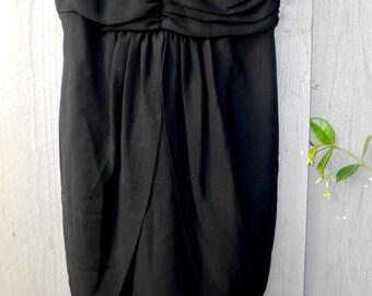 Vintage Black Crepe Wiggle Dress