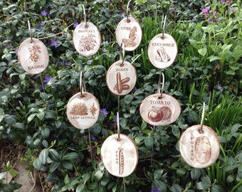 Vegetable Garden Markers Set 6