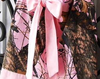 Baby girl camo dress. Made from  Pink Mossy Oak Camo Baby. Toddler. Girl  Pillowcase dress. Redneck Flower girl dress. Redneck Girl Birthday