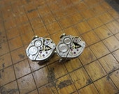 Bulova 6BO Watch Movement Cufflinks. Great for Fathers Day, Anniversary, Groomsmen or Just Because.  #285