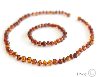 Baltic Amber Necklace and Matching Bracelet. For Adults