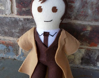 Doctor Who Tenth Doctor Plushie [Made to Order]