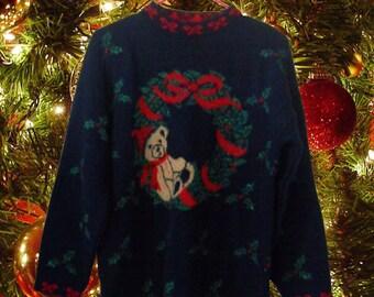 Ugly Christmas Sweater Tacky Christmas Sweater Holiday Sweater Red Sweater Hipster Sweater Hipster Clothing Hipster Clothes Winter Clothing