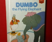 Walt Disney's Dumbo the Flying Elephant vintage 1978 Disney's Wonderful World of Reading hardcover Children's book