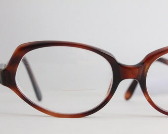 Vintage 50's French Tortoise Shell Cat Eyeglasses