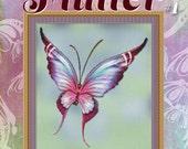 Cross Stitch Pattern Flutter No. 1 Pink Purple Butterfly Instant Download pdf Modern Design