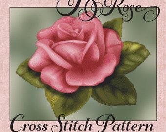 Perfect Rose Floral Cross Stitch Pattern Beautiful Rich Color Design Floral pdf Instant Download Modern Design