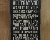 "Wood Sign - Rascal Flatts Song Lyrics - ""My Wish"" - Wedding/Graduation Gift - Add Personalization/Customize!"