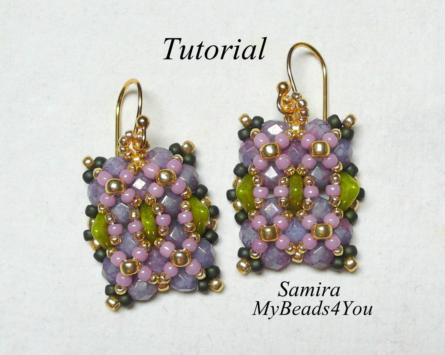 beading instructions for earrings