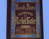 1872 Hoods Poems Illustrated by Myles Birket Foster Poems of Thomas Hood Vintage Book Vintage Poetry Antiquarian Book Victorian Book