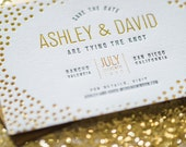 Gold Foil and Letterpress Save The Date