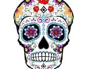 Sugar Skull temporary tattoo 8x6cm