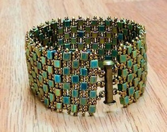 Crazy for Cubes bracelet - Matte Metallic Bronze