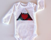 Mountain Bodysuit, Baby Mountain Shirt, Colorado Baby, Ski Baby, Adventure Baby
