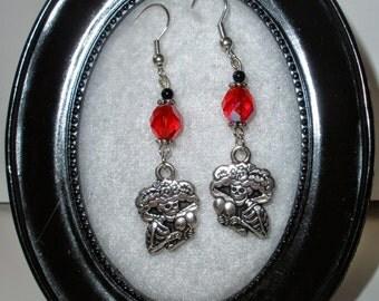 Day of the dead earrings - Ruby