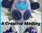 Peekaboo Unicorn In the Hoop Stuffed Softie - Reversible folds into an egg, ITH, IN The Hoop, Embroidery Design, Instant download