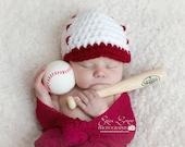 Baby Baseball Hat / Baseball Cap / Baseball Beanie / Newborn Photo Props / Photography Props / Newborn Props / Newborn Baseball Hat / Custom