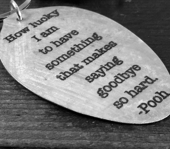 Pooh Quote About Saying Goodbye: Winnie The Pooh Quote Spoon Pendant How Lucky I Am To Have
