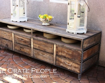 The 36 zoria farms coffee table custom crate furniture - Meuble tv buffet design ...