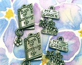 Book of Gardening and My Garden- 4 pieces-(Antique Pewter Silver Finish)