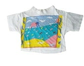 Elephant Shirt/ Pastel Shirt/ 90s Crop Top/ Crop Top Tee/ Crop Top Tshirt/ Soft Grunge/ Pastel Goth/ Israeli Clothing/ Made in Israel/ Jew