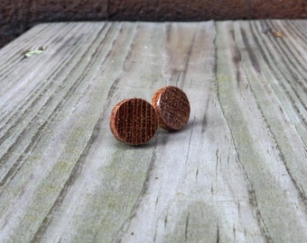 Wood Stud Earrings Handmade Lacewood Stud Earrings w/ Titanium Posts