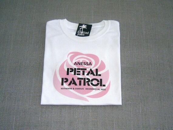 Petal Patrol Personalized Flower Girl Wedding T-Shirt