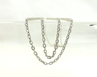 Cable Chain Silver Color Textured Chain Unfinished Craft Supply Jewelry & Beading Jewelry Bulk Chain