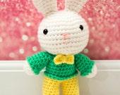 Bunny Crochet Rag Doll Plush - Cooper - Made to order