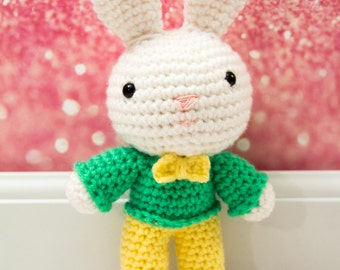 Bunny Crochet Rag Doll Plush - Cooper - Made to order