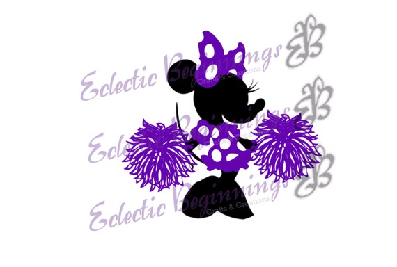 Disney Digital File Diy Print Iron On Cheerleader Minnie